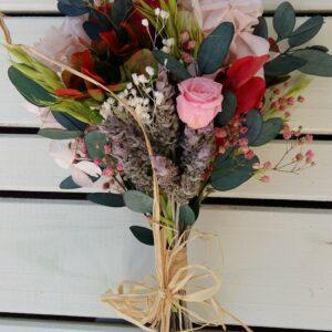Ramo hortensia preservada