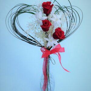 Rosas rojas preservadas para regalar en San Valentin