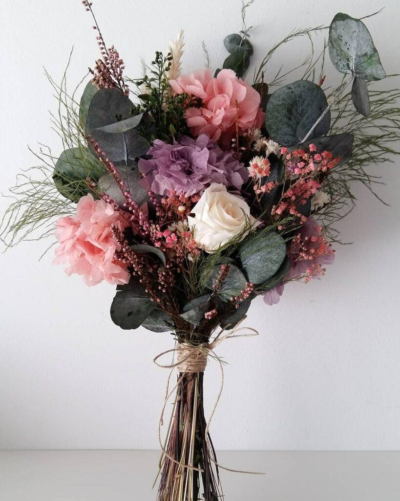 Ram flors preservades. Terrassa