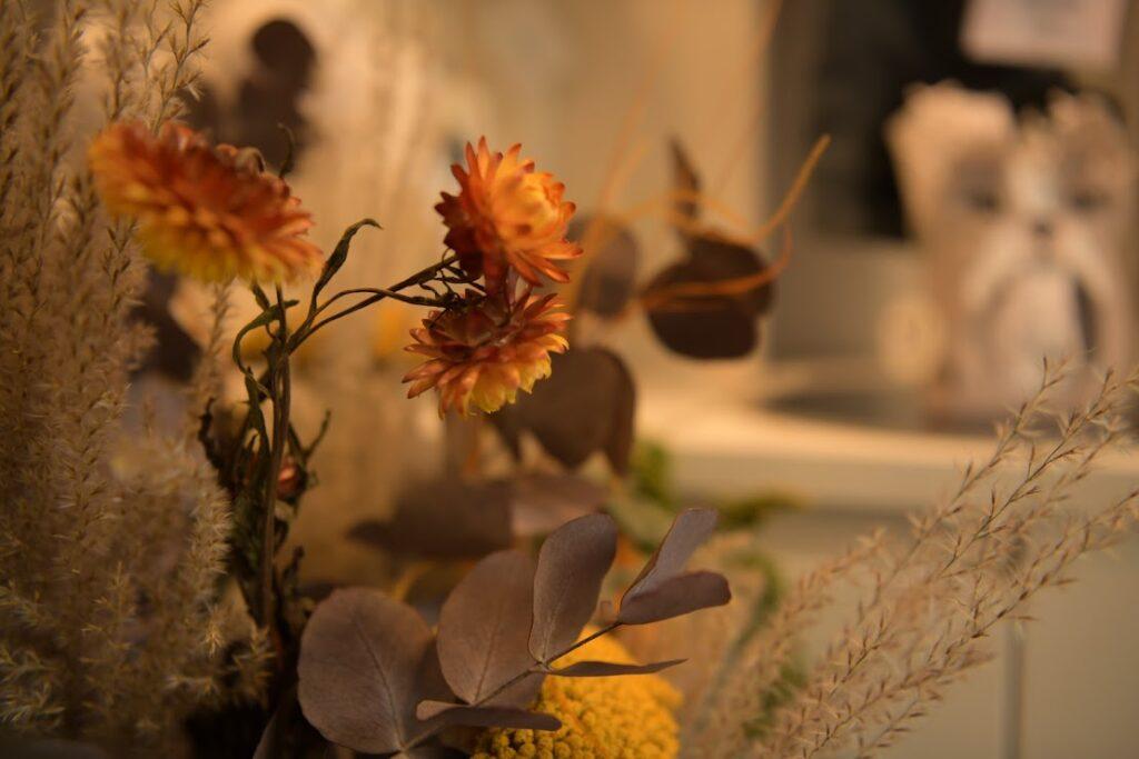 Decoración de tienda con flores preservadas. Terrassa