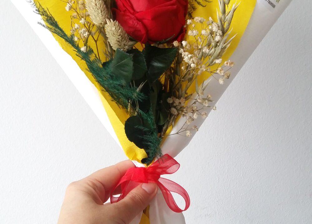 Rosa Preservada Sant Jordi 2020. Terrassa