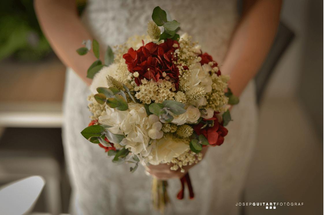 ram de núvia flors preservades