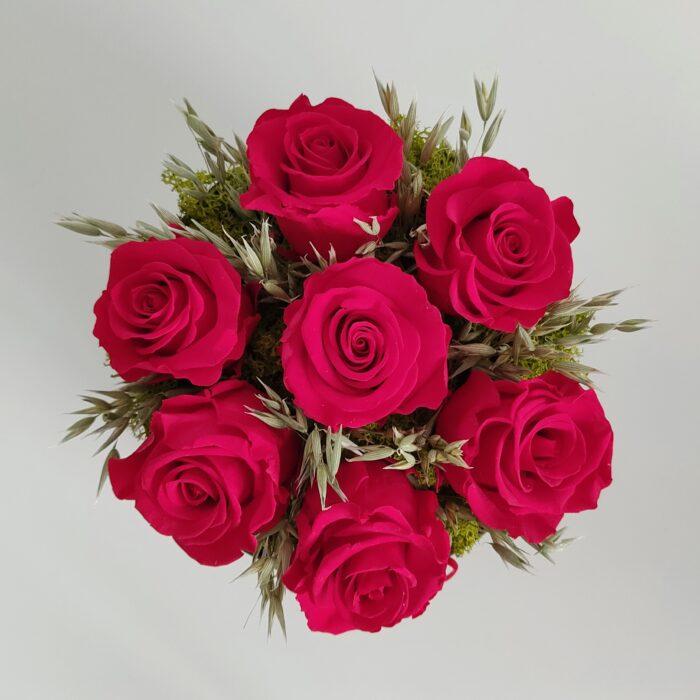 Rosas rojas preservadas. Terrassa