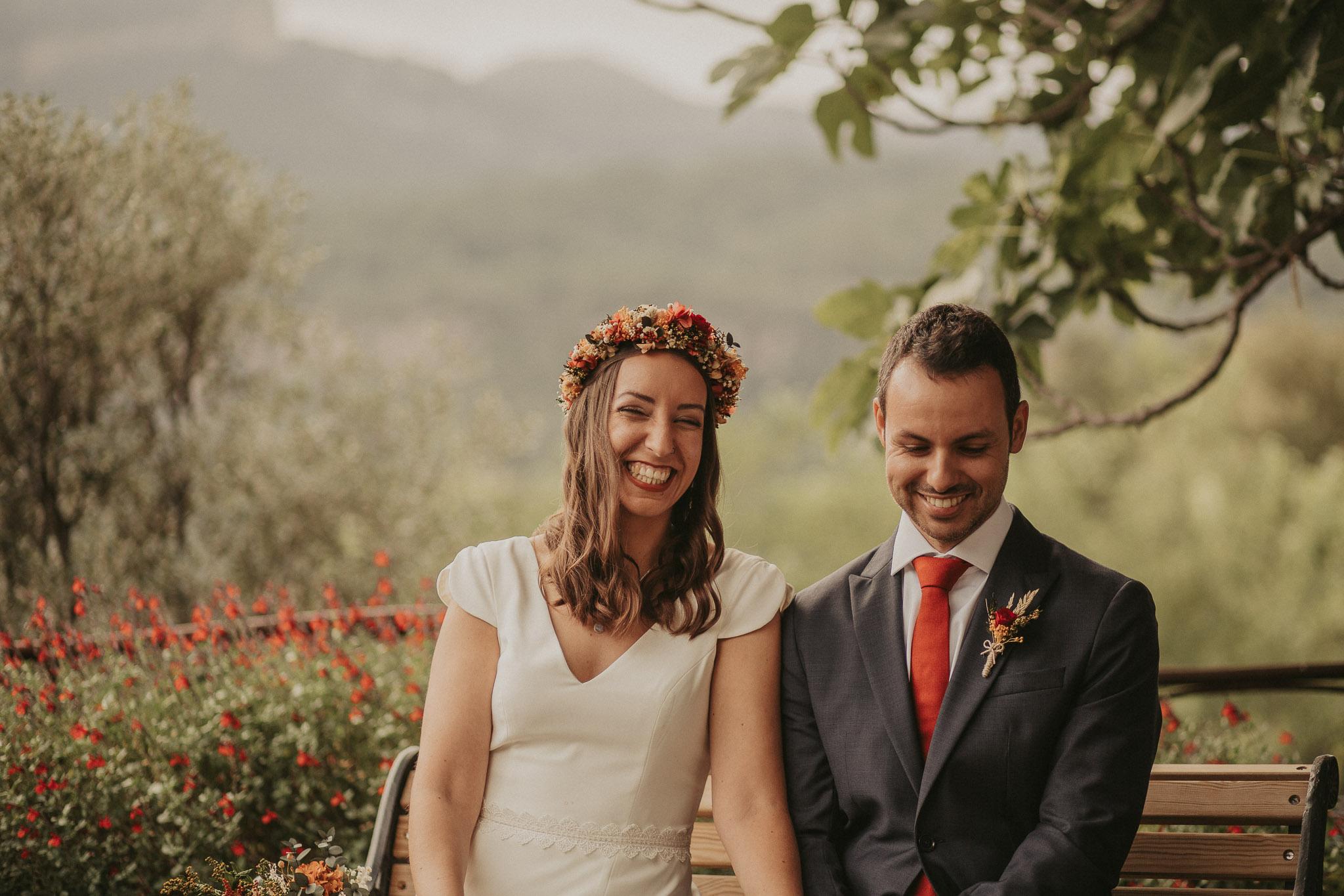 corona de flores novias