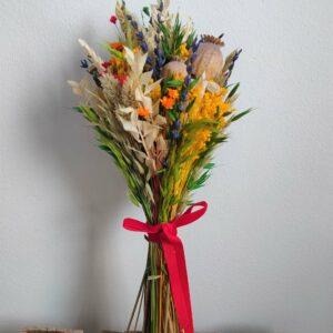 Ramo de flores preservadas
